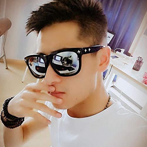 CYCY Sonnenbrille Männer Fahren Sonnenbrille Trend Box langes Gesicht weibliche Brille Leuchtend schwarzen und blauen Film, Leuchtend schwarzen und weißen Film