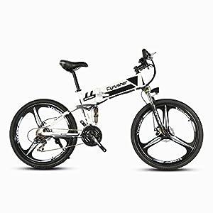 Cyrusher XF700- Vélo électrique pliante- Bicyclette de montagne -26 pouces- Installation antichoc supérieure-Moteur à haute puissance 250W*36V -Vitesse de 30 à 40 km/h avec interrupteur antidérapant de frein mécanique et Vélo intelligent de