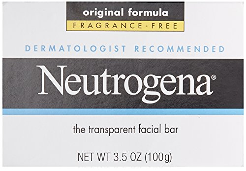 Facial Cleansing Bar (Neutrogena Fragrance Free Transparent Facial Bar Original Formula 100g (Reiniger))
