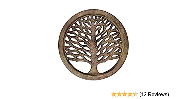 10935 Kitchen Purpledip Wooden Trivet Tree Of Life Coaster Hot Pad Mat For Dining Table