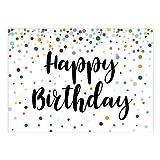 Große XXL Design Glückwunsch-Karte zum Geburtstag mit Umschlag/DIN A4/Happy Birthday international/Design Karte/Grußkarte