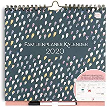 Boxclever Press Familienplaner Kalender 2020. Familienplaner 2020 mit 6 Spalten und vielen Funktionen zur Organisation. Wandkalender 2020 für Familien, ab sofort nutzbar bis Dezember 2020