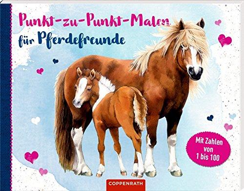 Punkt-zu-Punkt-Malen für Pferdefreunde: Mit Zahlen von 1 bis 100