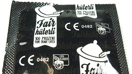 Fairhüterli - Naturliebhaber - 12 vegane Kondome made in Germany, aus Fair Trade Latex, extra sensitiv, einzeln elektronisch getestet (1 x 12 Stück) - 3