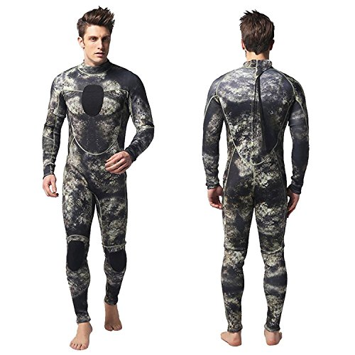 Nataly Osmann Wetsuits Herren 3mm Camouflage Neopren One Piece Surfen Tauchanzug