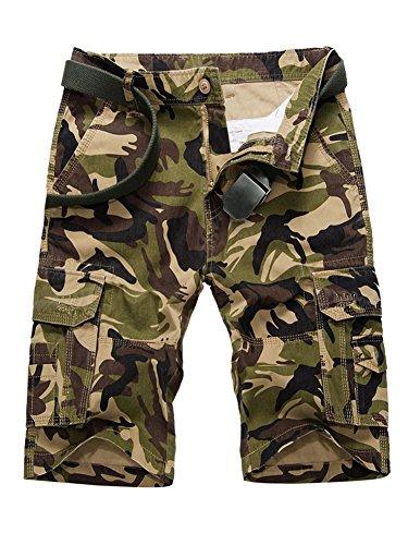 Herren Cargo Shorts Bermuda Kurze Hose Sport Outdoor Camouflage Sommerhose