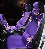 RUIRUI Sitzbezüge Schonbezüge Sitzbezug universal 5x Sitzer Sitze Elegante Dame (lila)