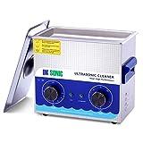 DK SONIC Professionale 3L Pulitore ad Ultrasuoni con Funzione di Riscaldamento Pulitore Ultrasuoni per dei Gioielli Occhiali Lenti Protesi Catene Iniettore Collana Orologi Rasoi Occhiali