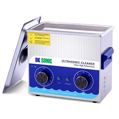 DK SONIC Professionale 3.2L Pulitore ad Ultrasuoni con Funzione di Riscaldamento Pulitore Ultrasuoni per dei Gioielli Occhiali Lenti Protesi Catene Iniettore Collana Orologi Rasoi Occhiali