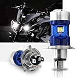 H4 Led Moto Ampoules Kit- Win Power- H4 LED Ampoule Moto Phare Hi / Lo Faisceau, Xenon Blanc 6000K 4000Lm Super Lumineux DC 12V / DC 24V, 1 Pc
