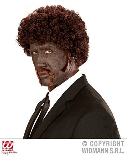 mit Schnurrbart und Koteletten Gangster Locken (Pulp Fiction Halloween Kostüm)