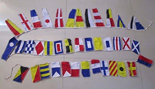 BRASS BLESSING Messing Segen Beach Party Signal Code Flagge–40Flaggen Wimpelkette–12Füße–Nautische/Maritime (5161)