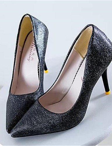 WSS 2016 Chaussures Femme-Soirée & Evénement-Noir / Violet / Blanc-Talon Aiguille-Talons-Talons-Similicuir white-us4-4.5 / eu34 / uk2-2.5 / cn33