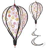 ECMQS Blume Muster Ballon Windmühle Kinderspielzeug, Glühen Spiral Garten Ornamente Bunte Outdoor Wind Spinner