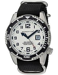 Momentum M50Mark II 'de los hombres de cuarzo acero inoxidable y nailon reloj de buceo, color: negro (modelo: 1m-dv52l7b)