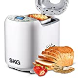 SKG Automatic Breadmaker 2LB - Beginner Friendly Programmable Bread Maker (19 Programs, 3 Loaf Sizes, 3 Crust Colors, 15 Hours Delay Timer, 1 Hour Keep Warm) - Gluten Free Whole Wheat Bread Tool