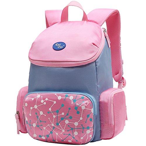 (Vbiger Schulrucksack Kinder Rucksäcke Schulranzen Schultasche Tasche für Jungen und Mädchen Rosa)