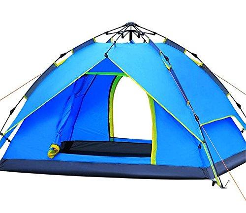 YHKQS-KQS Camping extérieur Camping Tentes automatiques hydrauliques 3-4 personnes Tente imperméable à double couche (avec sac) 200 * 180 * 130 cm