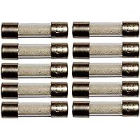 Aerzetix Satz von 10 Glassicherungen Glasrohr Sicherungen 2cm 20mm 5mm 5x20mm 220V 250V 0.8A