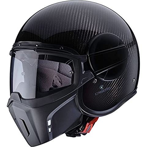 Caberg Ghost Open Face Modular Motorcycle Helmet - Carbon