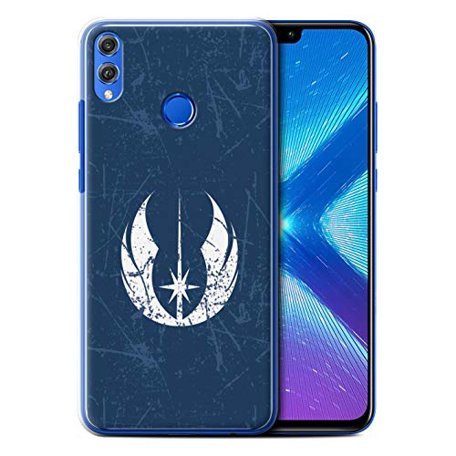 eSwish Hülle/Case für Huawei Honor 8X/View 10 Lite/Jedi-Befehl Inspiriert Muster/Galaktisches Symbol Kunst Kollektion (Symbole Galaktische)