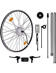 "Das-Kit E-Bike Conversion Kit 36V 250W 28"" Zoll Umbausatz, 25Nm Frontmotor, LCD Display, Scheibenbremsaufnahme geeignet, Daumengashebel"