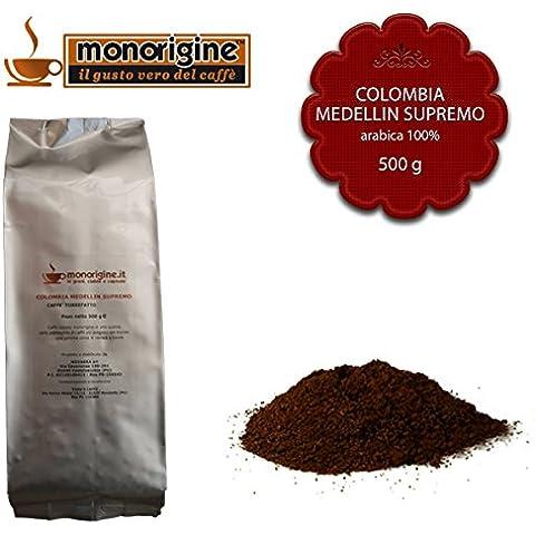 Caffè Arabica macinato fresco per espresso Colombia Medellin Supremo 500 gr - Caffè Monorigine Arabica 100%