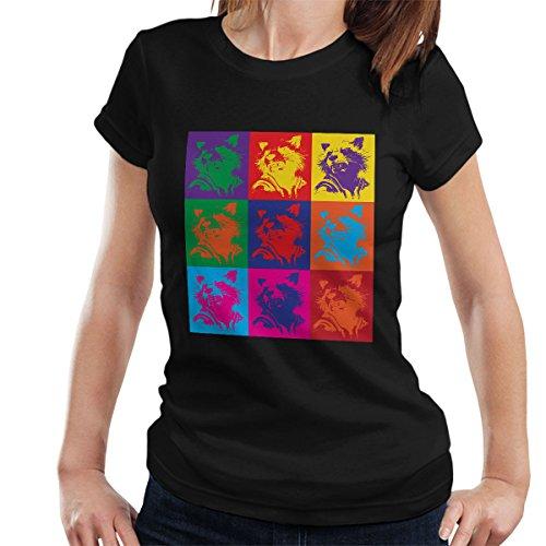 Rocket Guardian of the Galaxy Andy Warhol Style Women's T-Shirt Black