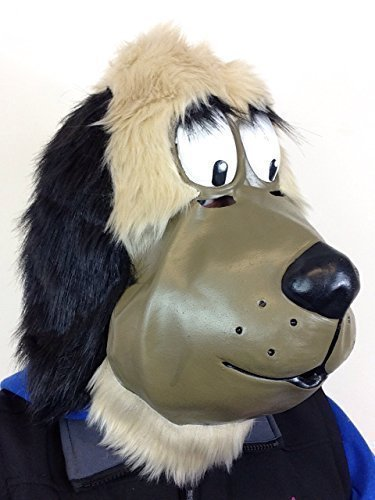 Cartoon Hund Design, Latex Maske Mutley Fell Movie Hochwertiges Kostüm ()