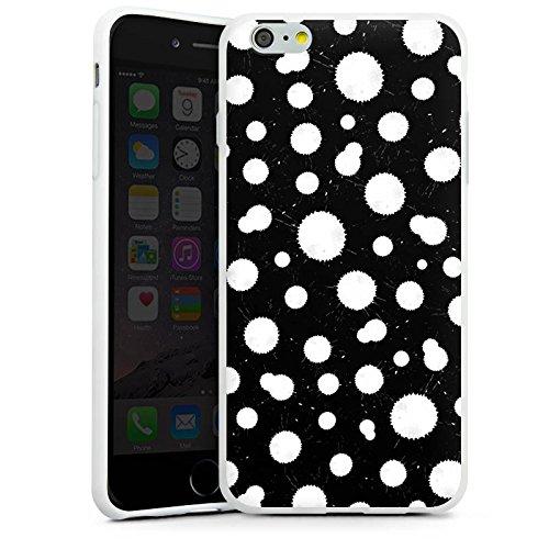 Apple iPhone X Silikon Hülle Case Schutzhülle Schwarz Weiß Muster Punkte Silikon Case weiß