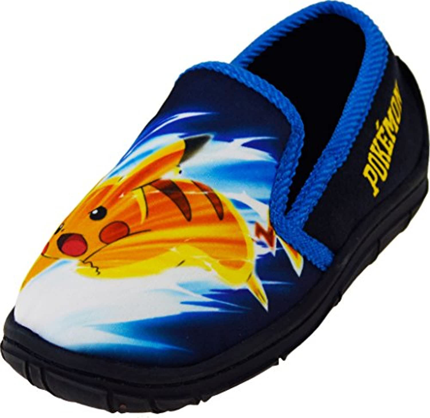 Boys - Pokemon Pikachu Slippers Novelty Character Footwear[10 Junior][Blue]