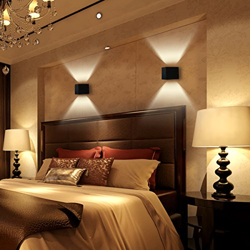 agptek moderne 3w led wandleuchte innen wandlampe. Black Bedroom Furniture Sets. Home Design Ideas