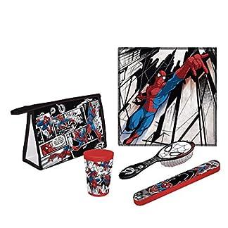 Arditex Spiderman 5 Neceser, 22 cm, Negro y Rojo