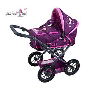 Knorrtoys 80271 NICI Miniclara - Cochecito de bebé de Juguete, Color Rojo