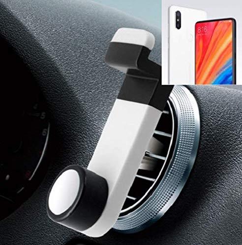 K-S-Trade® Smartphone Universal Holder Holder/Car Montaje/Parabrisas para El Xiaomi Mi Mix 2S. Blanco. Titular De Teléfono De La Rejilla De Ventilación Se Puede Utilizar con Los Teléfonos