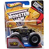 Hot Wheels Monster Jam, MAX-D Decade of Maximum Destruction (New Deco). 1st Edtions 2013, with Crushable Car. 1:64 Scale (small truck). by Mattel