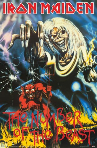 Iron Maiden – Number of the Beast – Eddie Art 24 x 36 Poster