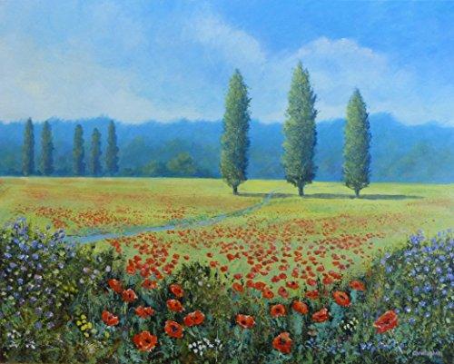 amapolas-en-un-campo-50-cm-x-40-cm-amapola-pintura-verano-paisaje-alamos-colores-brillantes
