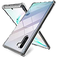 ProCase Galaxy Note 10 Case, Slim Hybrid Crystal Clear TPU Bumper Cushion Cover with Reinforced Corners, Transparent Scratch Resistant Rugged Cover Protective Case for Samsung Galaxy Note 10 -Black