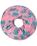 caripe Loop Schal Schlauchschal Schmetterlinge Hunde Katzen Elefant unisex - sh22 (Elefant - pink)