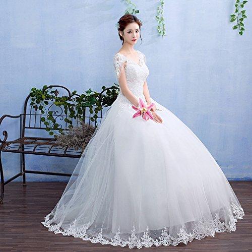 UU Hochzeitskleid Herbst und Winter Braut Hochzeitskleid Hochzeitskleid Dünnes Dünnes Spitzehochzeitskleid,EIN,M