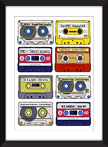 Classic Rap Albums - Unframed Print - Ideal Gift for Music Fan/Ungerahmter Druck