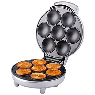 Trebs 99260 Poffertjes-Automat - Mini Pfannkuchen - Waffelautomat - antihaftbeschichtet - 700 Watt - Silber