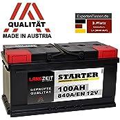 LANGZEIT Batterien LZ60084, LANGZEIT Autobatterie 12V 100AH ersetzt 88Ah 90Ah 92Ah 95Ah 100Ah