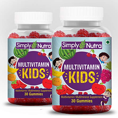 Simply Nutra Multivitamin Gummies for Kids and Adults with All Essential Vitamins & Minerals (60)