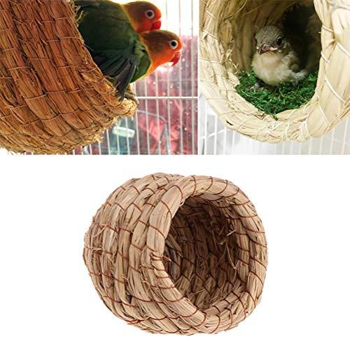 Nest Stroh Pet Nest Farm Tiere Vogel Haus Papagei Nest Käfige Zubehör Ratte Hamster Vogel Zucht Nest,L ()