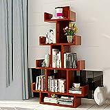 HQQ Bücherregal, Bücherregal, Präsentationsregal, Bücherregal, für Aufzeichnungen, Bücher, multifunktionales Regal Teak Color