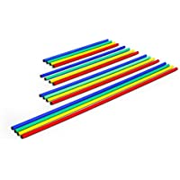 Jalon de coordination - 80 cm - 100 cm - 120 cm - 160 cm - bleu - jaune - vert - rouge - 25 mm