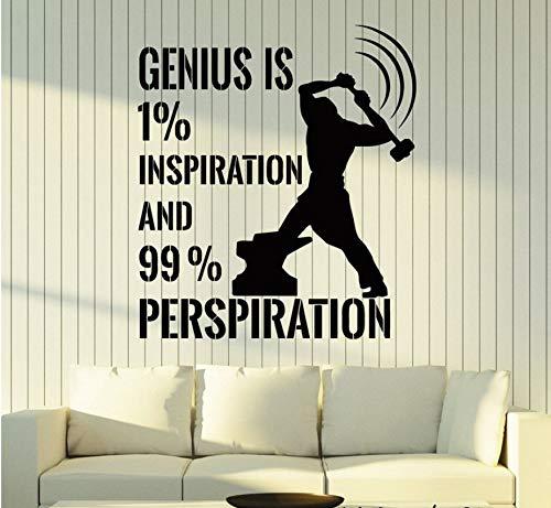 WFYY Inspirieren Motivation Zitat Arbeit Kunst Aufkleber Wandbild Einzigartige Wandtattoo Aufkleber Schlafzimmer Abnehmbare Vinyl Wandtattoo Für Büro 56X63Cm