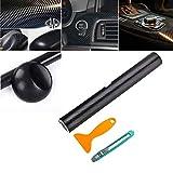 AMIGOB 4D Carbon Folie Klebefolie (200x30cm) Schwarz Klebend Carbon Fahrzeug KFZ Autofolie Schwarz